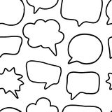 Outline hand drawn speech bubble seamless pattern royalty free illustration