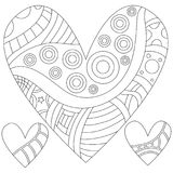 Outline heart collection isolated over white background Stock Photography