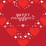 Outline heart made from small hearts valentines day i love you r Royalty Free Stock Photography