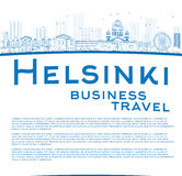 Outline Helsinki skyline and copy space Stock Photo