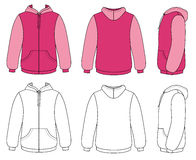 Outline Hoodie Royalty Free Stock Images