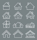 Outline house icon Stock Image