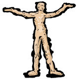 Outline of a human figure Stock Images
