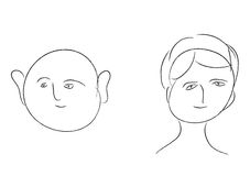 Outline humans. Humans outline in white background Royalty Free Stock Image