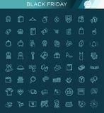 Outline icon collection - Black Friday Big Sale Royalty Free Stock Image