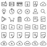 Outline icon set. Vector design of button icon set with symbol concept Royalty Free Stock Photo
