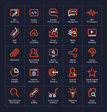 Outline icon set Royalty Free Stock Photo