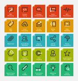 Outline icon set Royalty Free Stock Photography
