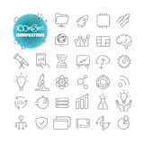 Outline icon set. Vector pictogram set. Innovation Royalty Free Stock Images