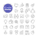 Outline icon set. Vector pictogram set. Strategy Stock Photography