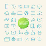 Outline icon set. Web and mobile app thin line icons Royalty Free Stock Photo