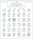 Outline Icons Business and Marketing Royalty Free Stock Image
