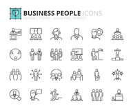 Outline icons about business people Royalty Free Stock Image