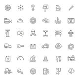 Outline icons. Car parts and services Royalty Free Stock Photos