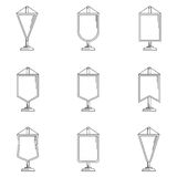 Outline icons for pennant Stock Image