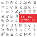 Outline icons set for web and applications. Stock Image
