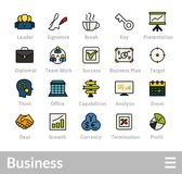 Outline icons thin flat design, modern line stroke style. Web and mobile design element, objects and vector illustration icons set 25 - business and company Stock Images