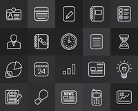 Outline icons thin flat design, modern line stroke Stock Images