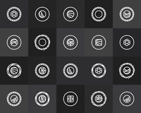 Outline icons thin flat design, modern line stroke Royalty Free Stock Photo