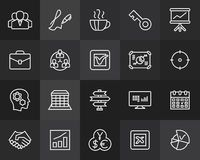 Outline icons thin flat design, modern line stroke. Style, web and mobile design element, objects and vector illustration icons set 25 - business and company Royalty Free Stock Photo