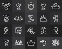 Outline icons thin flat design, modern line stroke Stock Photo