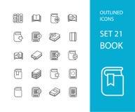 Outline icons thin flat design, modern line stroke Stock Photos