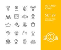 Outline icons thin flat design, modern line stroke vector illustration