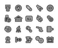 Outline icons thin flat design, modern line stroke Stock Photo