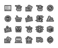 Outline icons thin flat design, modern line stroke Royalty Free Stock Photos