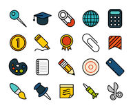 Outline icons thin flat design, modern line stroke Royalty Free Stock Photography