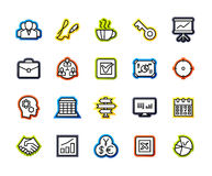 Outline icons thin flat design, modern line stroke style. Web and mobile design element, objects and vector illustration icons set 25 - business and company Royalty Free Stock Photo