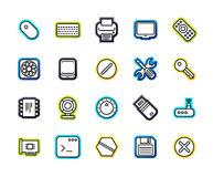 Outline icons thin flat design, modern line stroke style Royalty Free Stock Photos