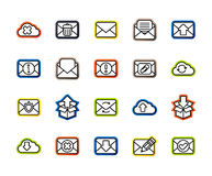 Outline icons thin flat design, modern line stroke style Stock Images