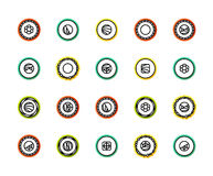 Outline icons thin flat design, modern line stroke style Stock Image
