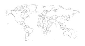 Free Outline Illustration Of The World Stock Image - 86119871