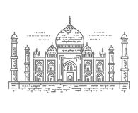 Outline Illustration of Taj Mahal Palace Icon Royalty Free Stock Images