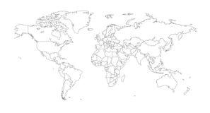 Outline Illustration of the world Stock Image