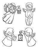 Outline image of angels. Royalty Free Stock Image