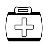 Outline kit first aid cross emergency medical. Vector illustration eps 10 Stock Photos