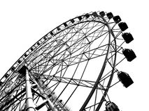 Outline of a Large Ferris Wheel Stock Photos