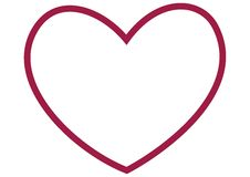 Outline of large red heart Stock Image