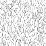 Outline leaf background Stock Images