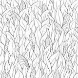 Outline leaf background Stock Images