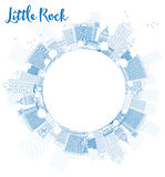 Outline Little Rock Skyline with Blue Building and copy space Royalty Free Stock Photos