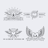 Outline logos set Stock Image
