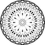 Outline mandala circular ornament. Intricate pattern. Vector Royalty Free Stock Image