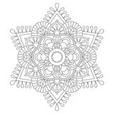 Outline Mandala for coloring book. Anti-stress therapy pattern. Decorative round ornament. Vector image Royalty Free Stock Photography