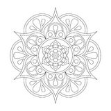 Outline Mandala for coloring book. Anti-stress therapy pattern. Decorative round ornament. Vector image. Outline Mandala for coloring book. Anti-stress therapy royalty free illustration