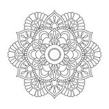 Outline Mandala for coloring book. Anti-stress therapy pattern. Decorative round ornament. Vector image. Outline Mandala for coloring book. Anti-stress therapy stock illustration