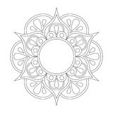 Outline Mandala for coloring book. Anti-stress therapy pattern. Decorative round ornament. Vector image. Outline Mandala for coloring book. Anti-stress therapy vector illustration